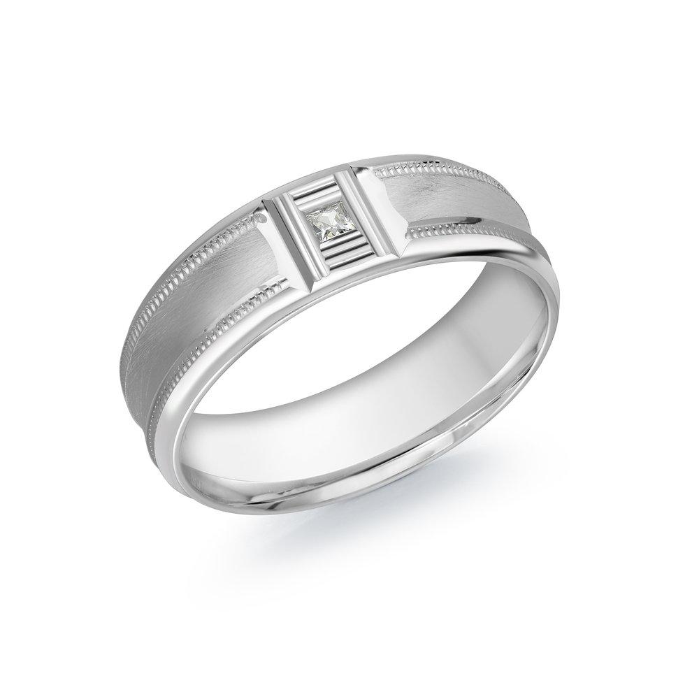 White Gold Men's Ring Size 7mm (JMD-688-7W5)