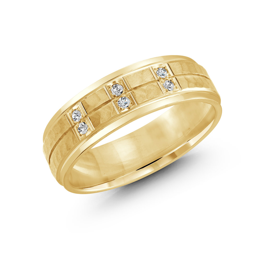 Yellow Gold Men's Ring Size 7mm (JMD-815-7Y9)