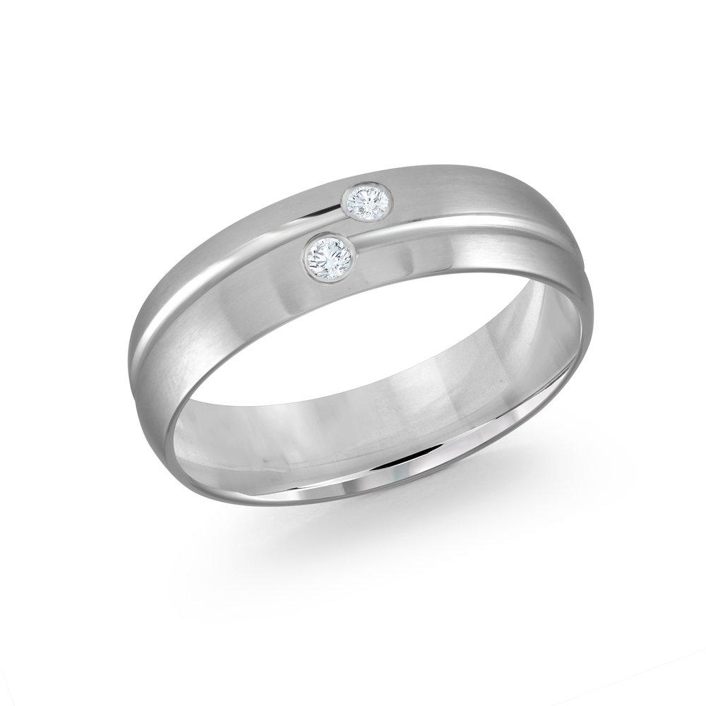 White Gold Men's Ring Size 7mm (JMD-821-7W6)