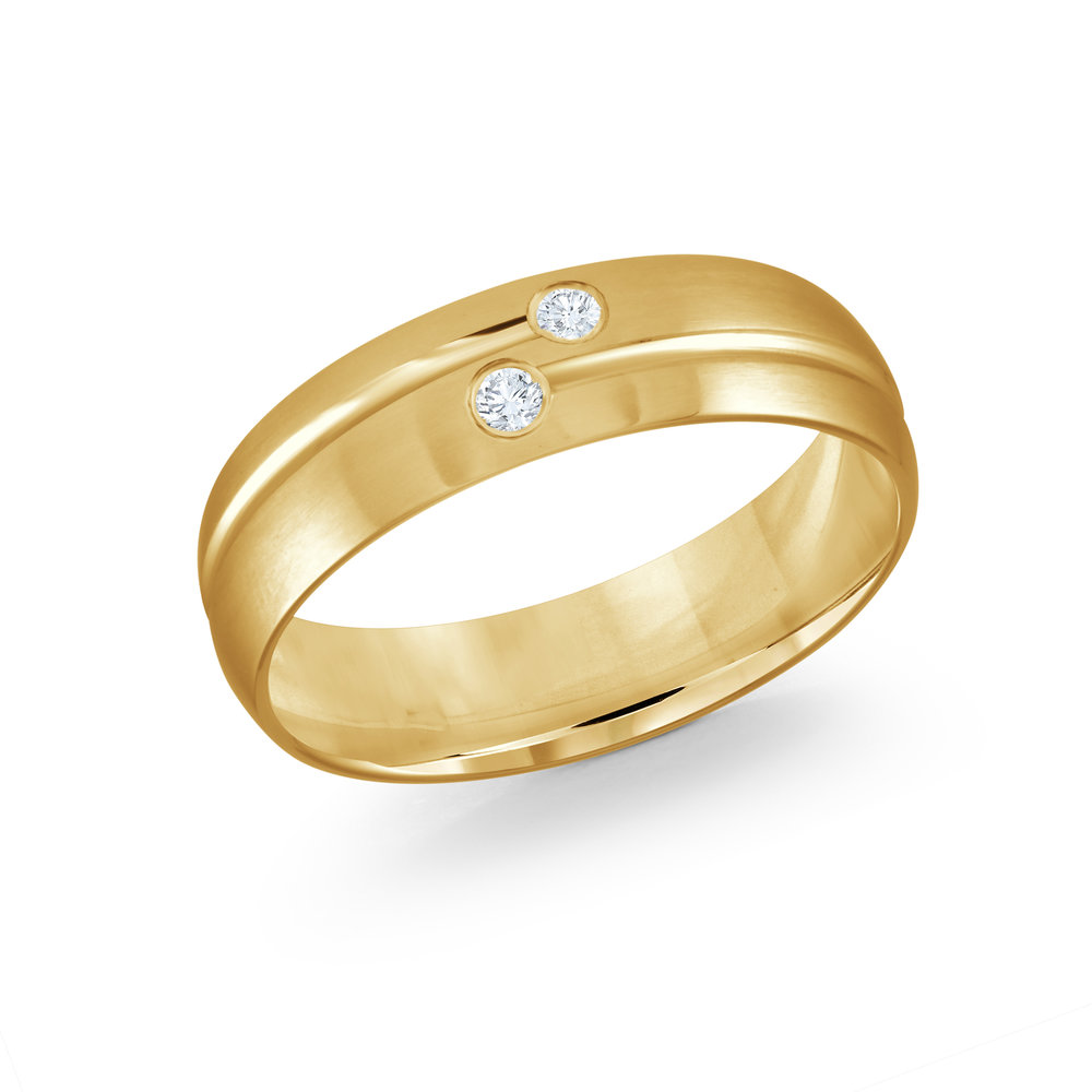 Yellow Gold Men's Ring Size 7mm (JMD-821-7Y6)