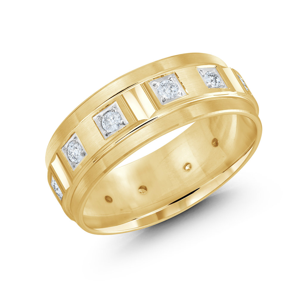Yellow Gold Men's Ring Size 8mm (JMD-826-8Y50)