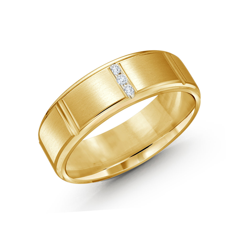 Yellow Gold Men's Ring Size 7mm (JMD-1088-7Y10)