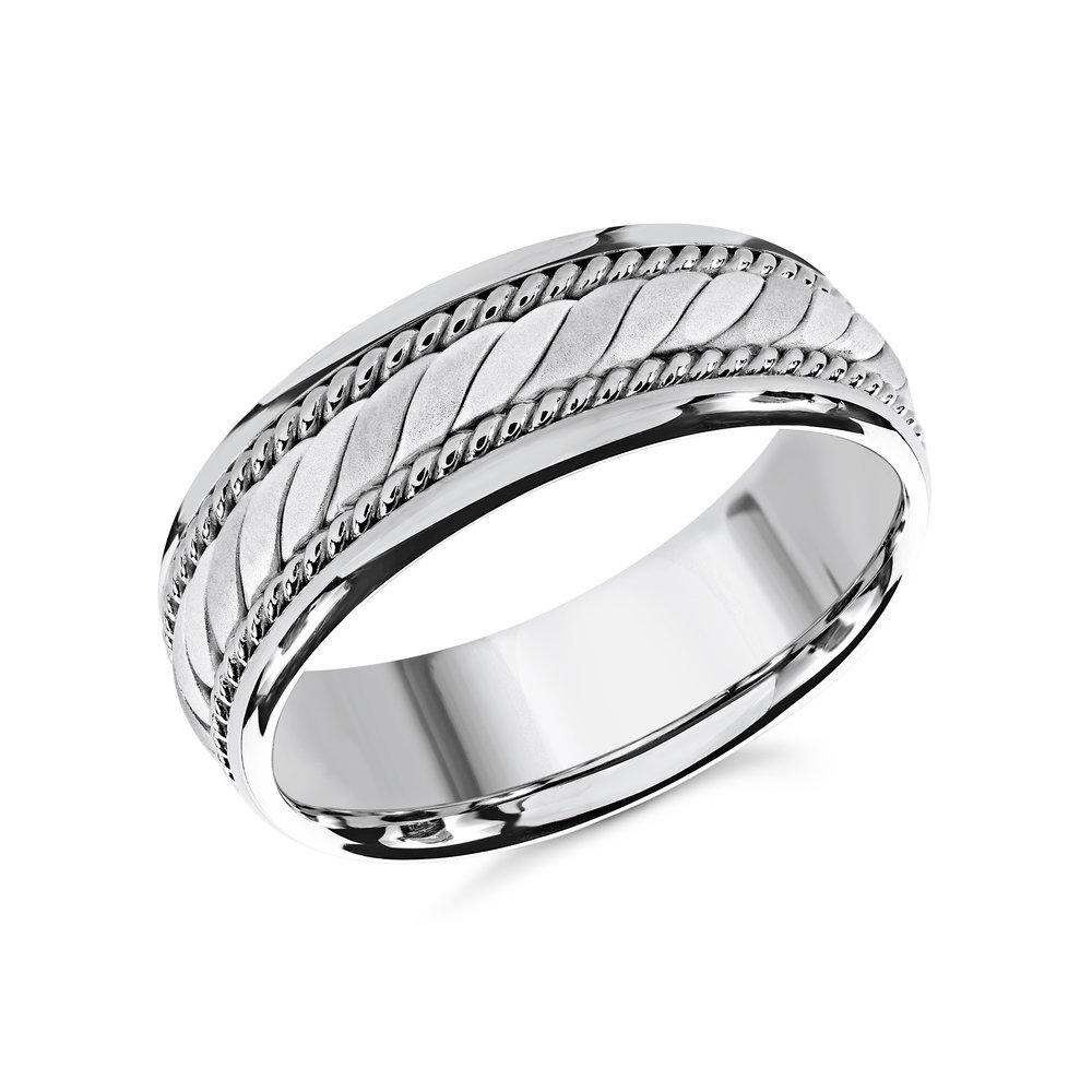 White Gold Men's Ring Size 8mm (MRD-070-8W)