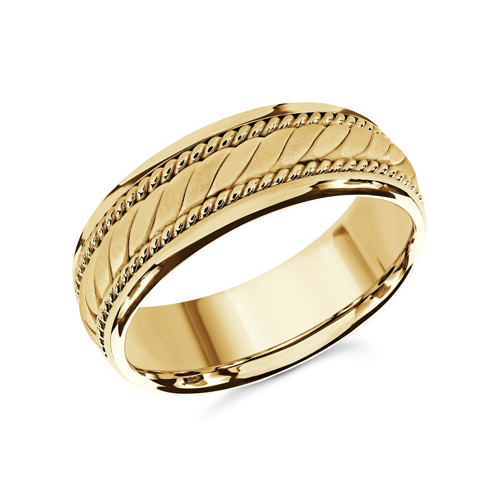 Yellow Gold Men's Ring Size 8mm (MRD-070-8Y)