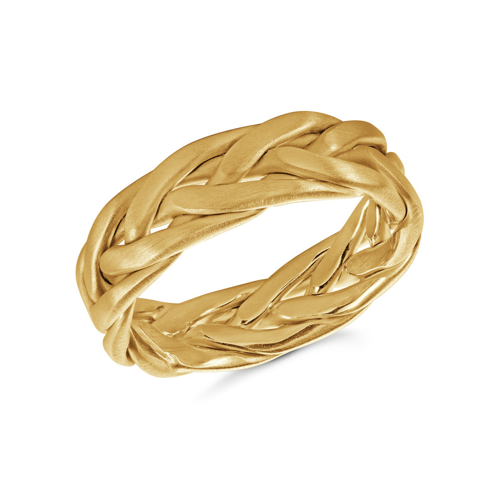 Yellow Gold Men's Ring Size 6mm (MRD-077-7Y)