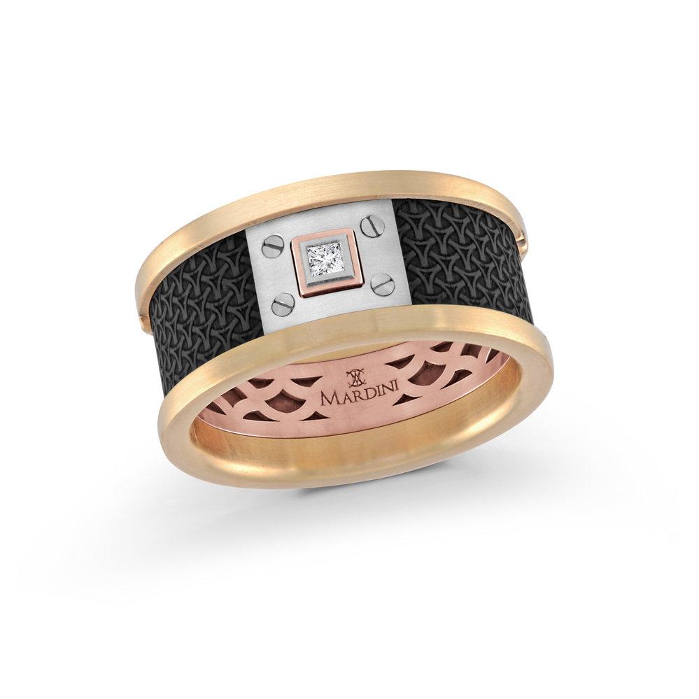 Yellow/Pink Gold Men's Ring Size 11mm (MRDA-005-11)