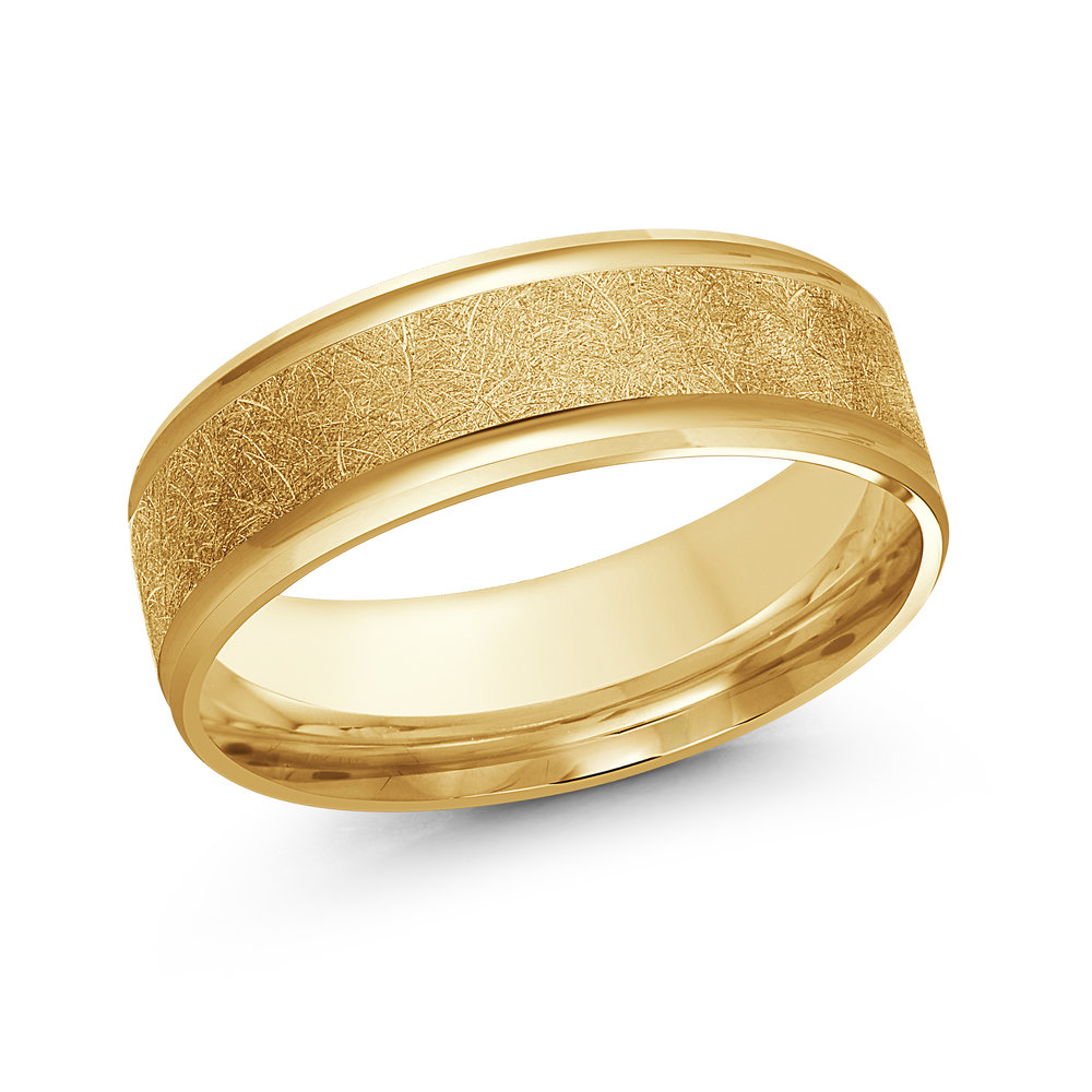 Yellow Gold Men's Ring Size 7mm (LUX-160-7Y)