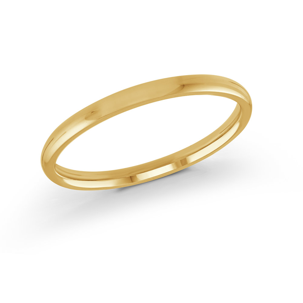 Yellow Gold Men's Ring Size 2mm (J-100-02YG)