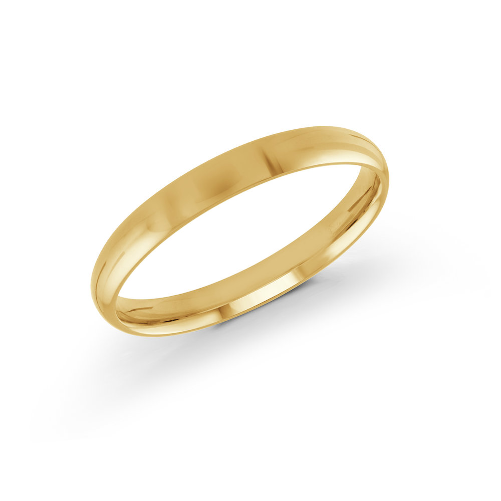Yellow Gold Men's Ring Size 3mm (J-100-03YG)