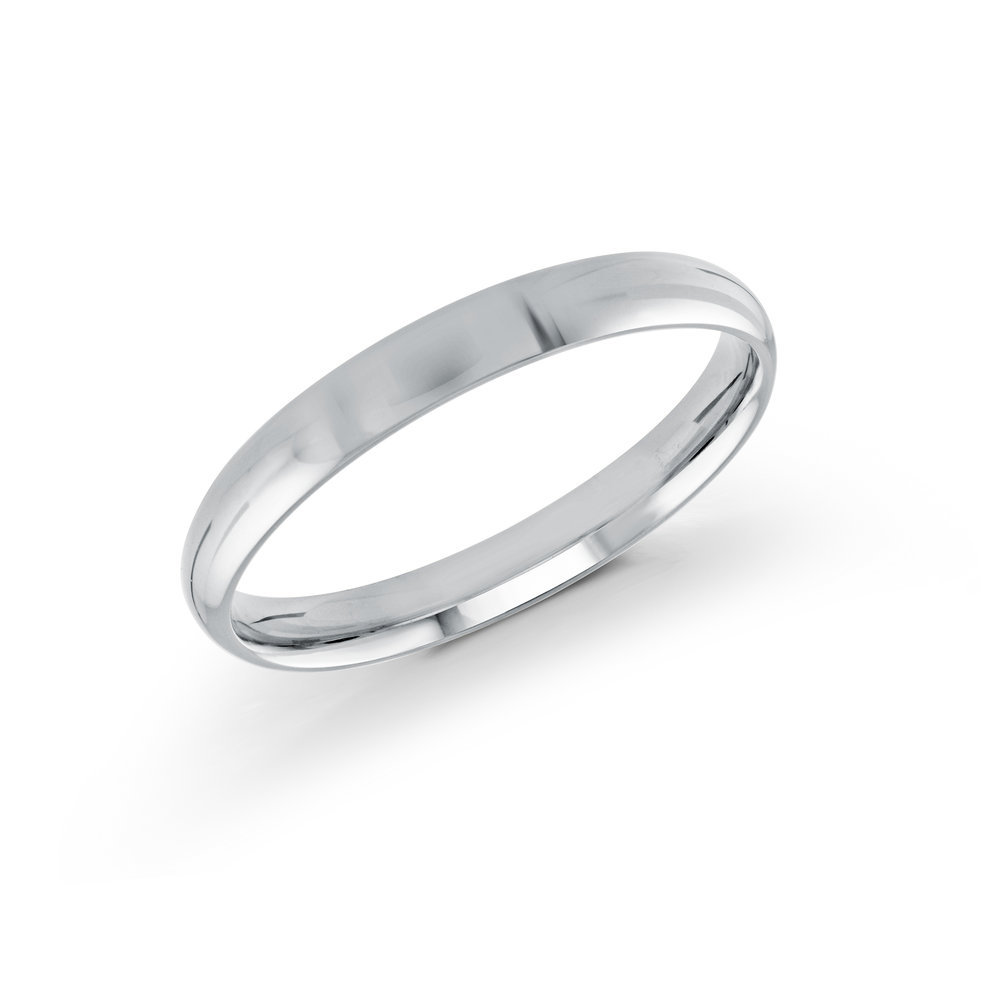 White Gold Men's Ring Size 3mm (J-100-03WG)