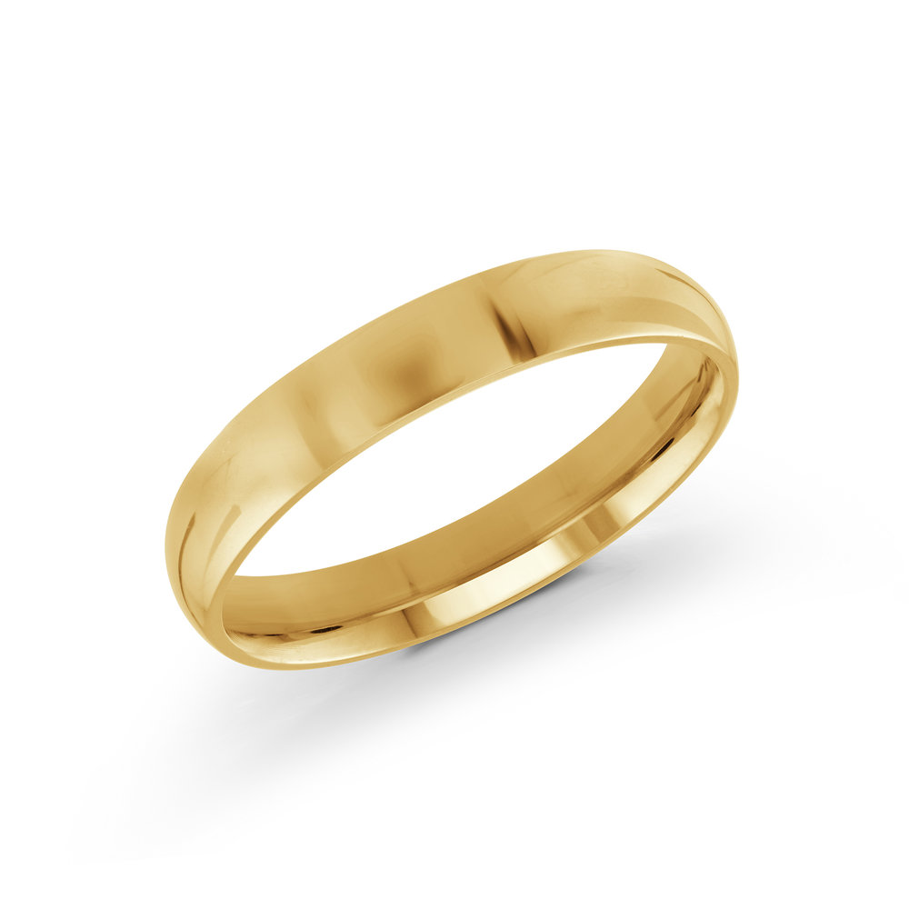 Yellow Gold Men's Ring Size 4mm (J-100-04YG)