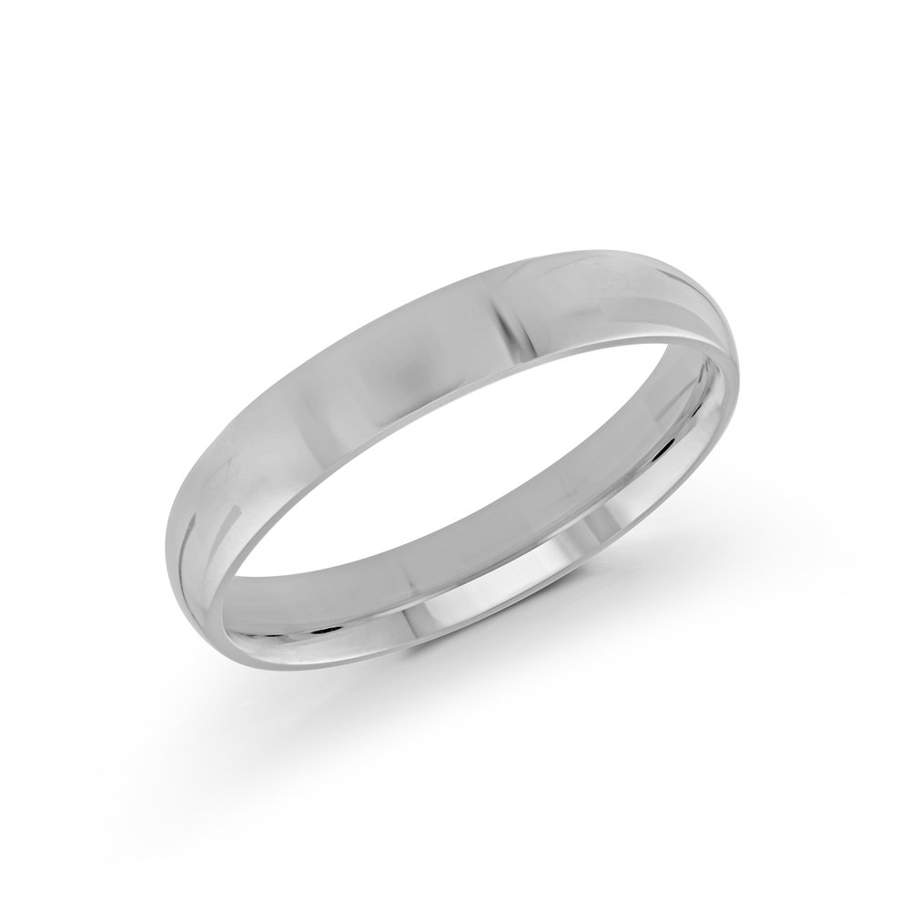 White Gold Men's Ring Size 4mm (J-100-04WG)