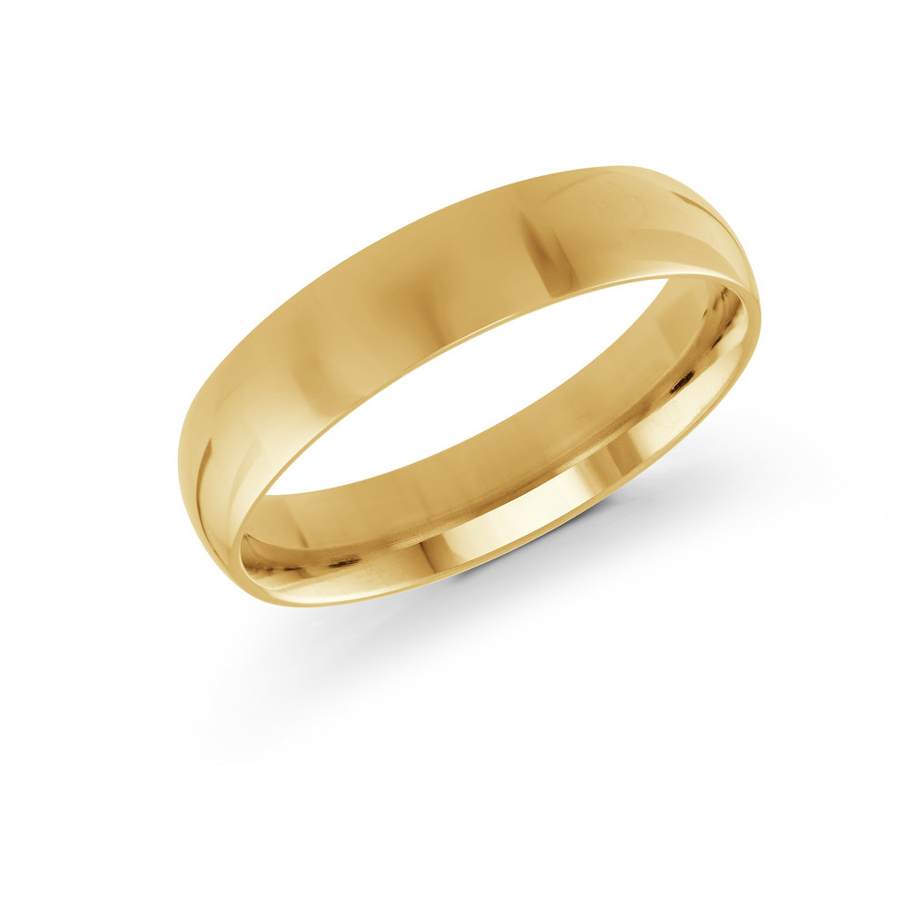 Yellow Gold Men's Ring Size 5mm (J-100-05YG)