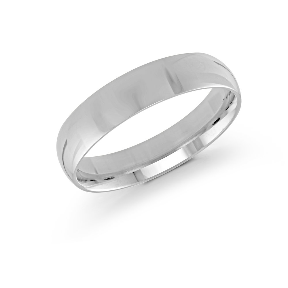 White Gold Men's Ring Size 5mm (J-100-05WG)