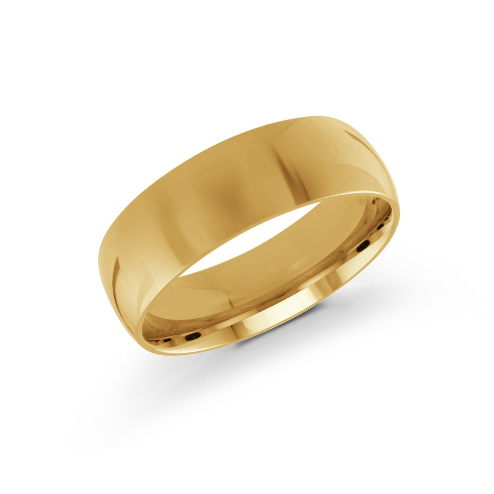 Yellow Gold Men's Ring Size 7mm (J-100-07YG)