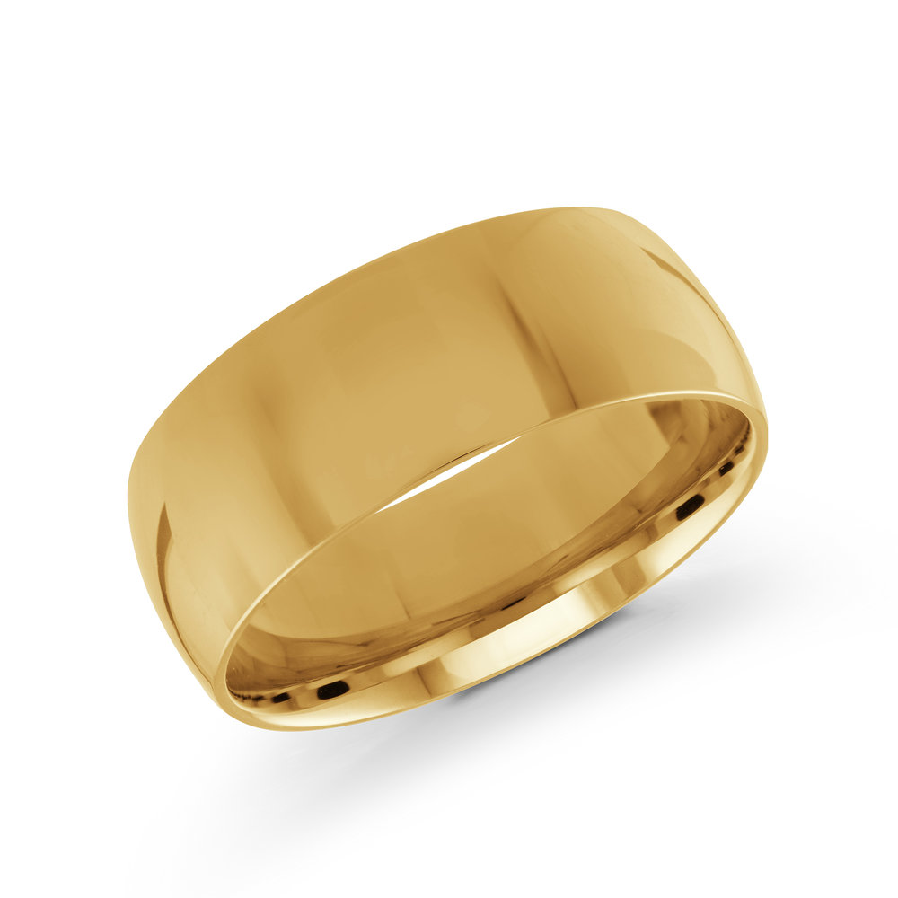 Yellow Gold Men's Ring Size 8mm (J-100-08YG)