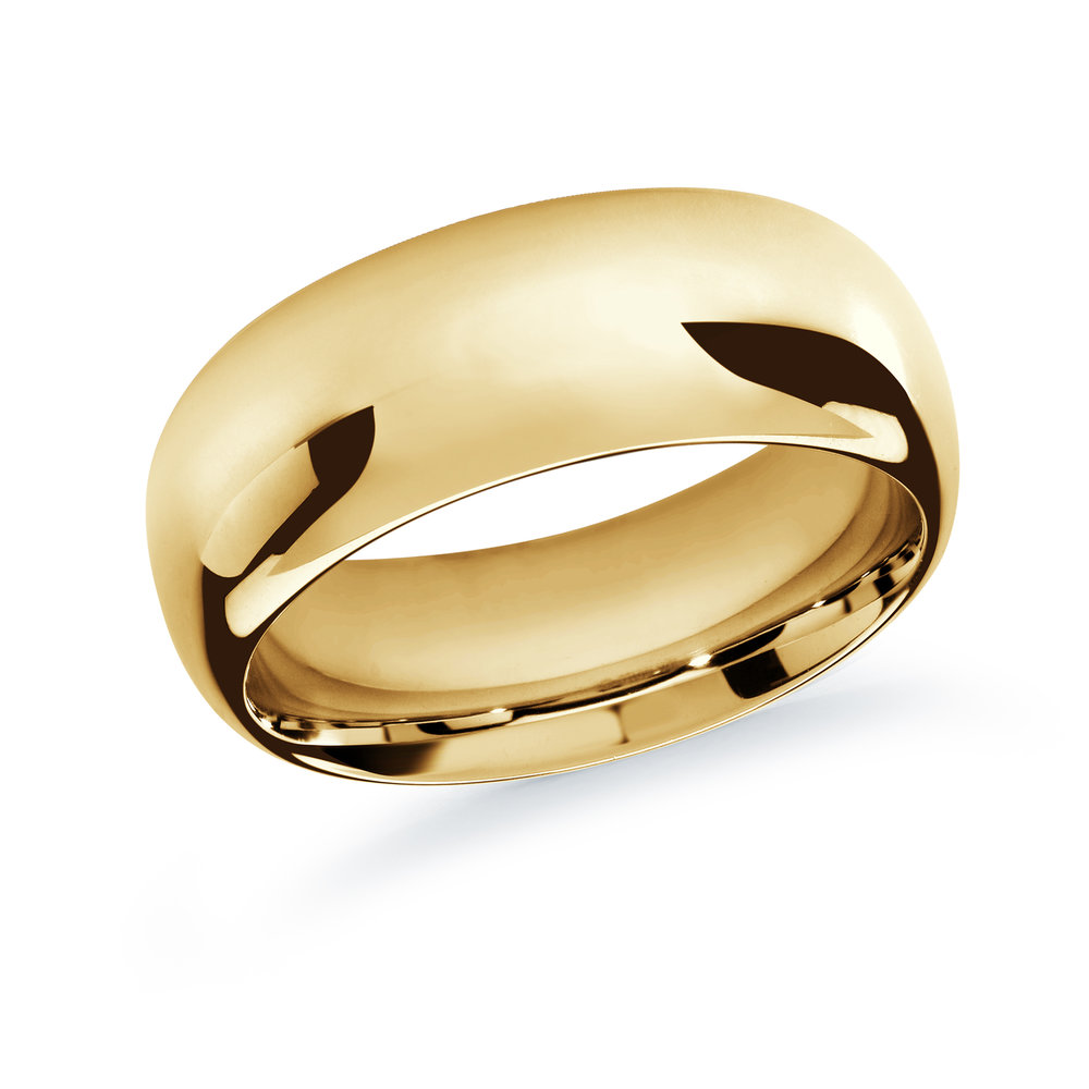 Yellow Gold Men's Ring Size 10mm (J-207-10YG)