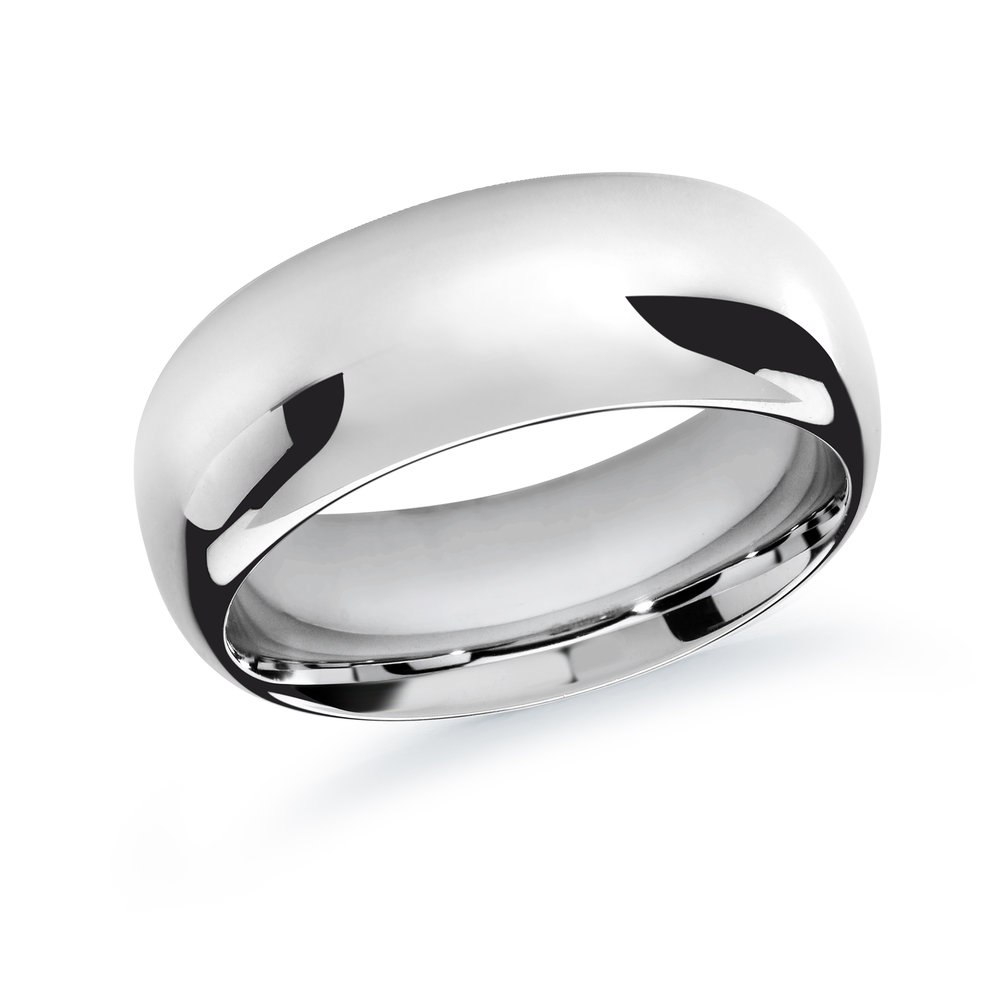 White Gold Men's Ring Size 10mm (J-207-10WG)