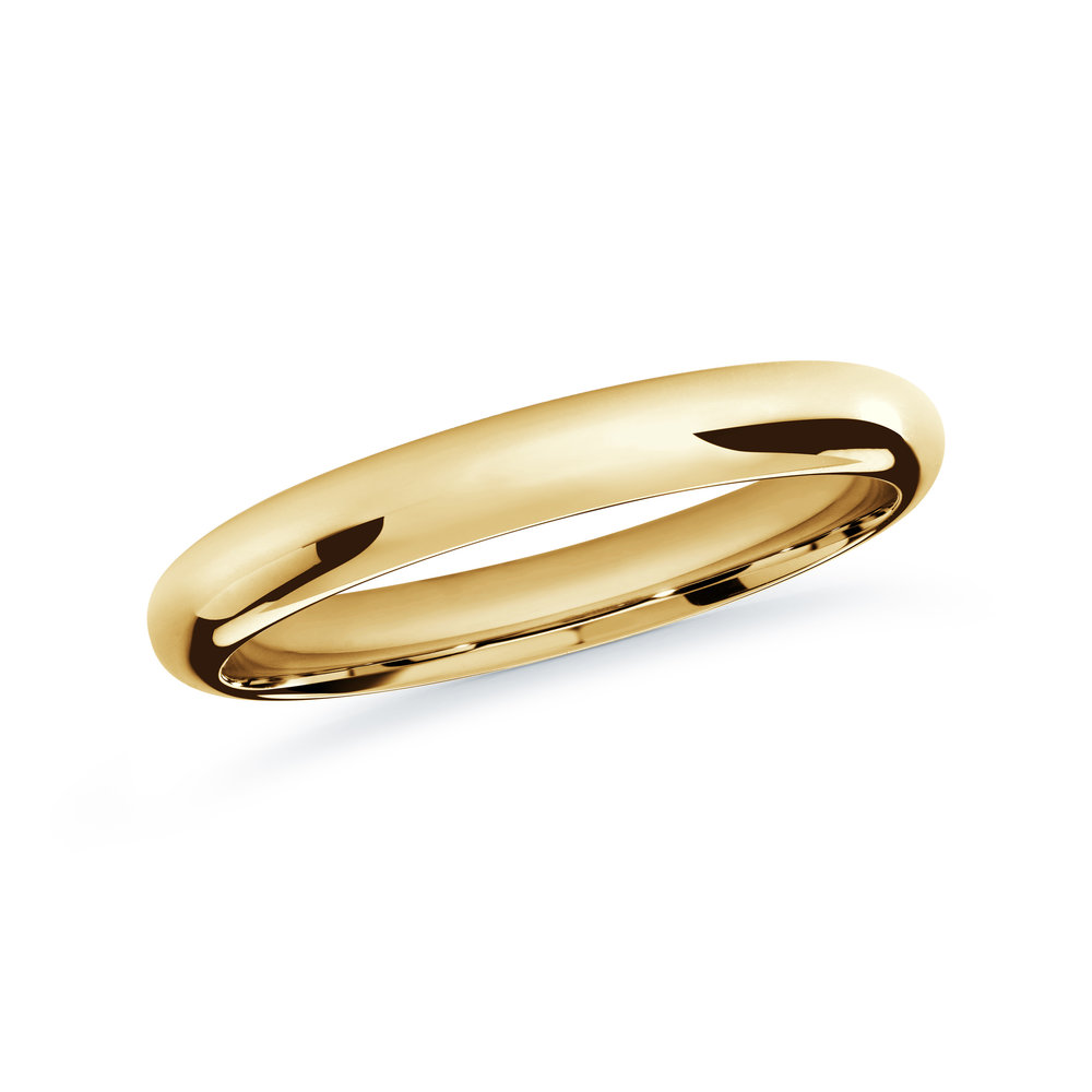 Yellow Gold Men's Ring Size 2mm (J-207-02YG)