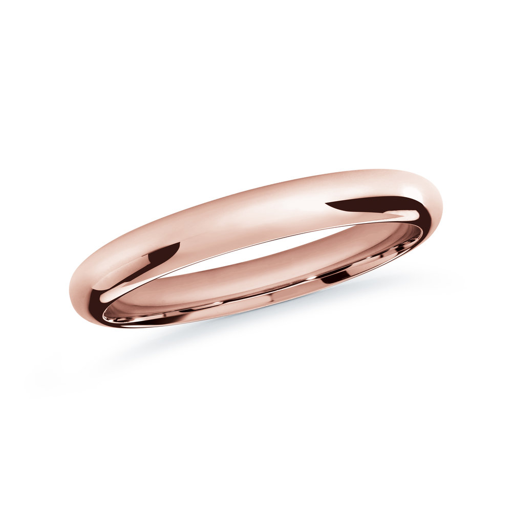 Pink Gold Men's Ring Size 2mm (J-207-02PG)