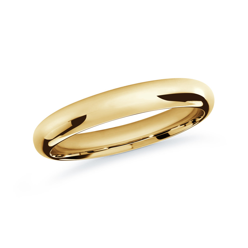 Yellow Gold Men's Ring Size 3mm (J-207-03YG)