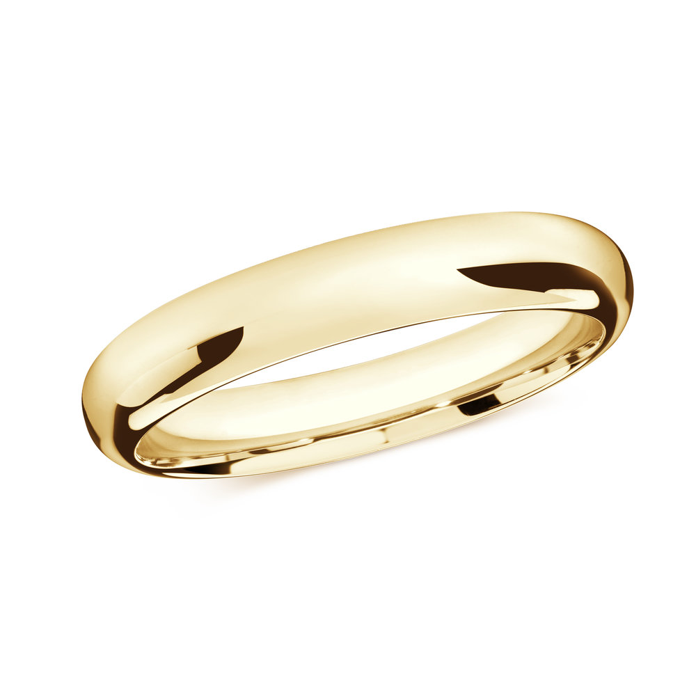 Yellow Gold Men's Ring Size 4mm (J-207-04YG)