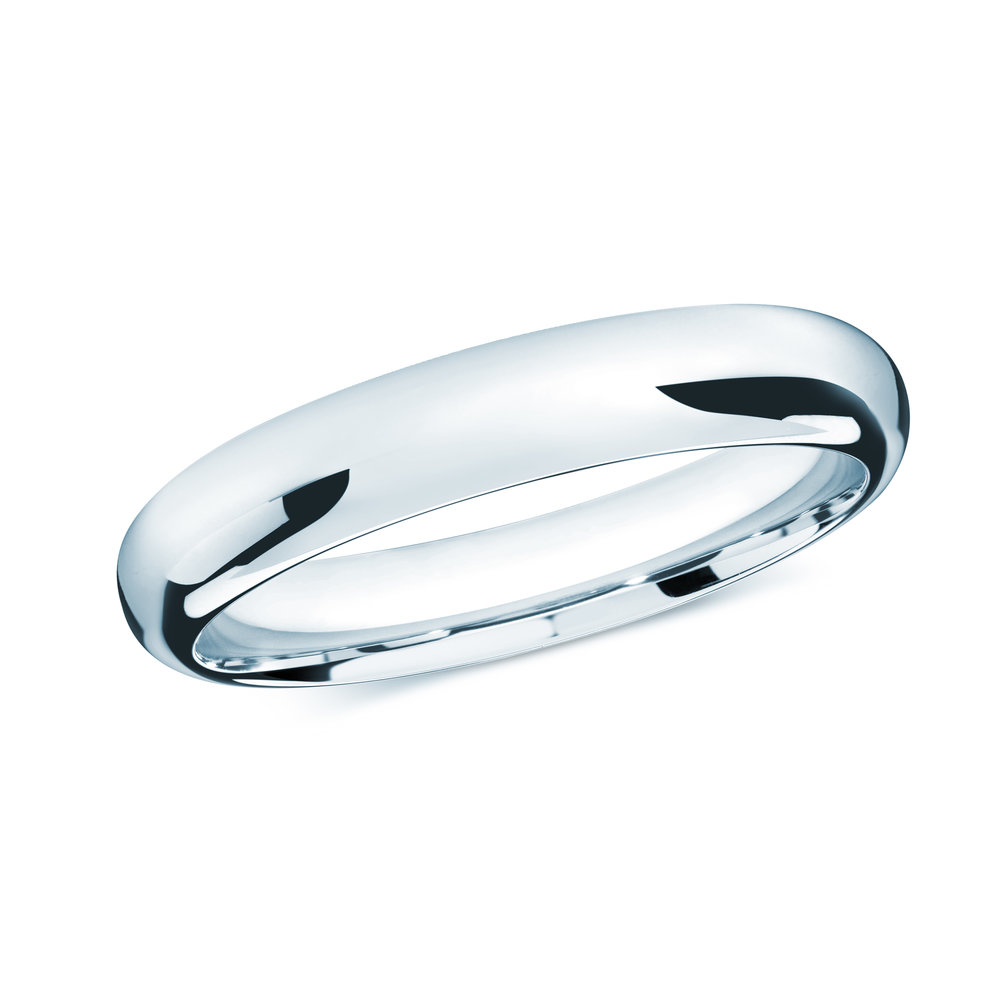 White Gold Men's Ring Size 4mm (J-207-04WG)