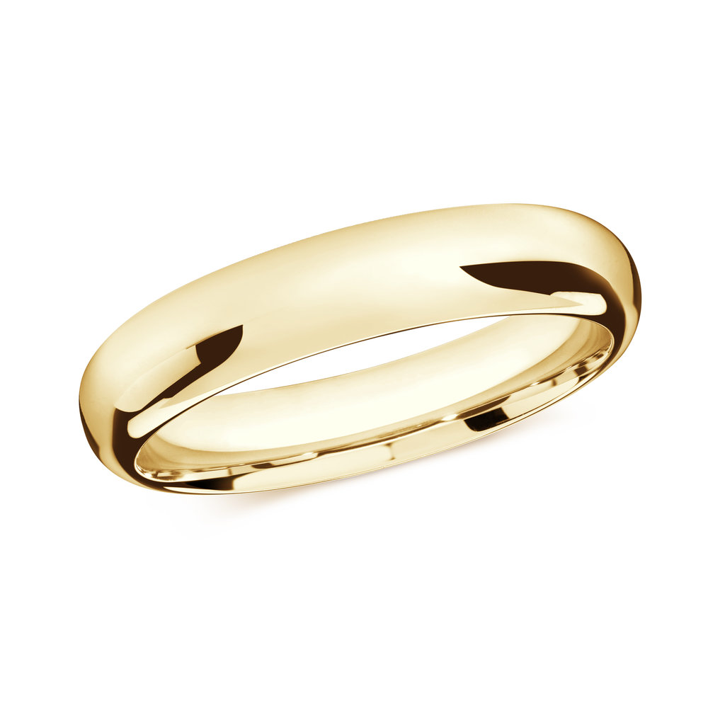 Yellow Gold Men's Ring Size 5mm (J-207-05YG)