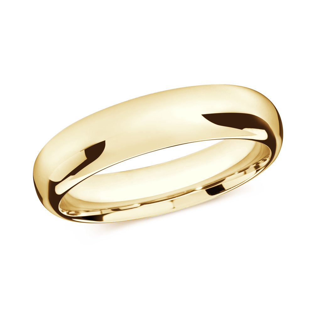 Yellow Gold Men's Ring Size 6mm (J-207-06YG)