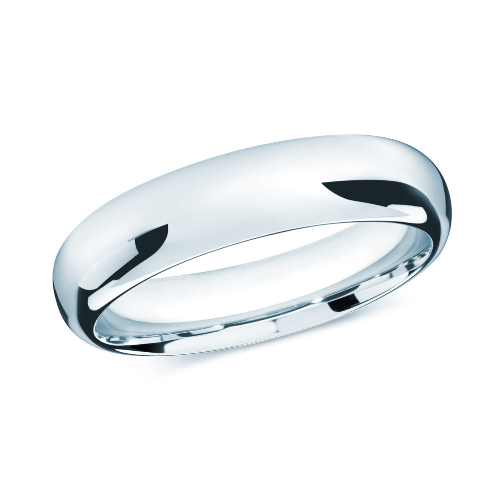 White Gold Men's Ring Size 6mm (J-207-06WG)