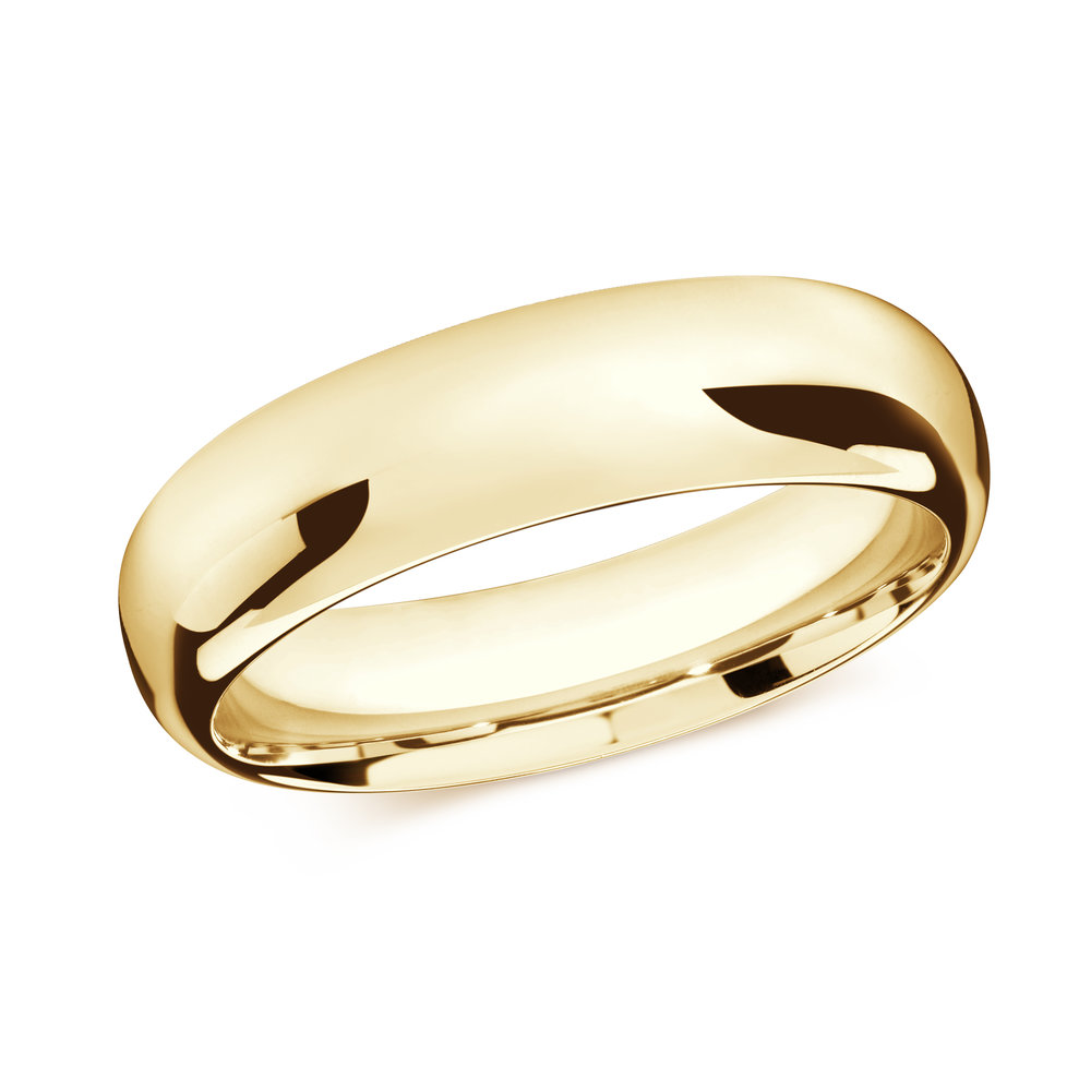 Yellow Gold Men's Ring Size 7mm (J-207-07YG)