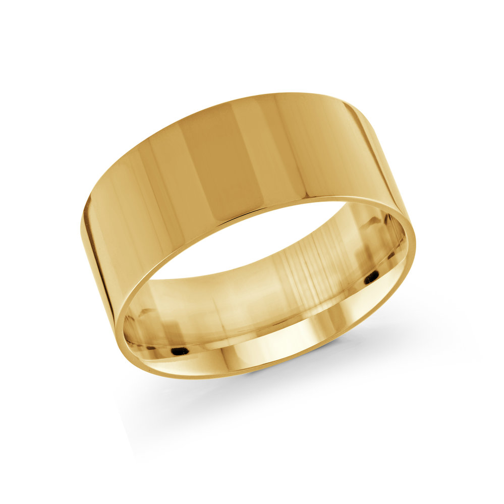 Yellow Gold Men's Ring Size 10mm (J-213-10YG)