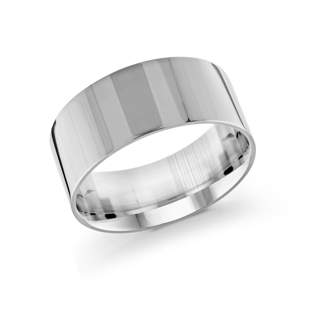 White Gold Men's Ring Size 10mm (J-213-10WG)