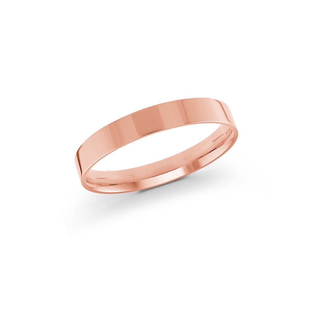 Pink Gold Men's Ring Size 3mm (J-213-03PG)