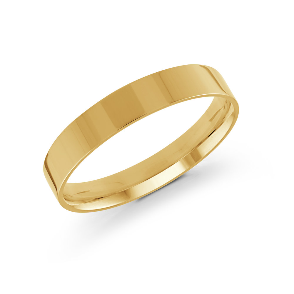 Yellow Gold Men's Ring Size 4mm (J-213-04YG)