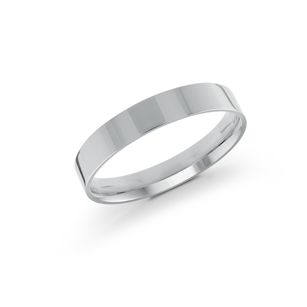 White Gold Men's Ring Size 4mm (J-213-04WG)