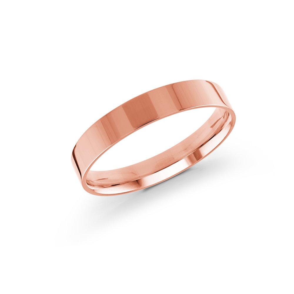 Pink Gold Men's Ring Size 4mm (J-213-04PG)