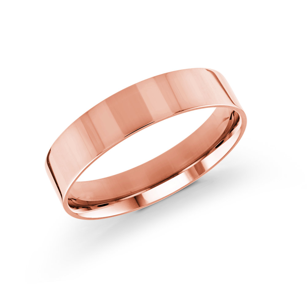 Pink Gold Men's Ring Size 5mm (J-213-05PG)
