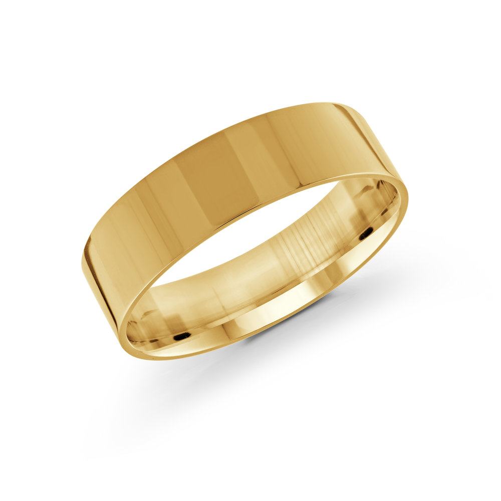 Yellow Gold Men's Ring Size 6mm (J-213-06YG)
