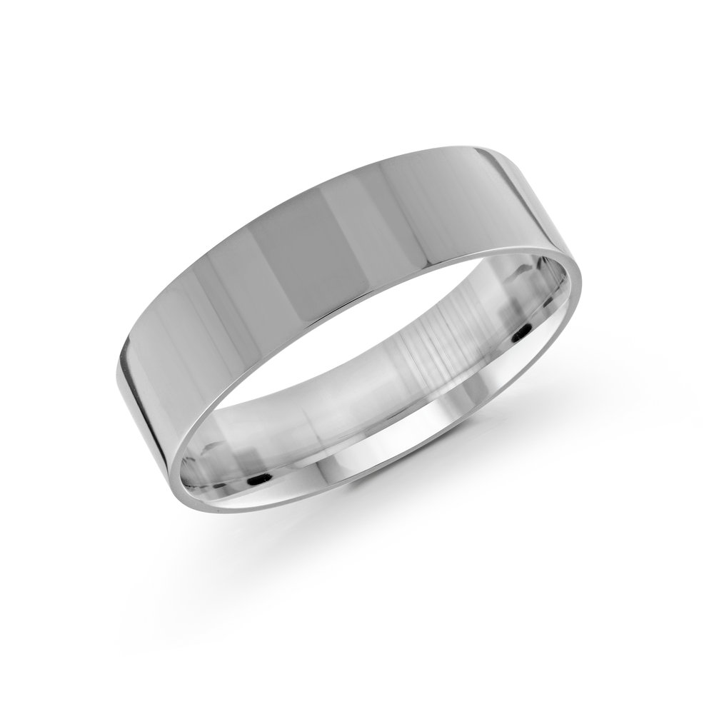 White Gold Men's Ring Size 6mm (J-213-06WG)
