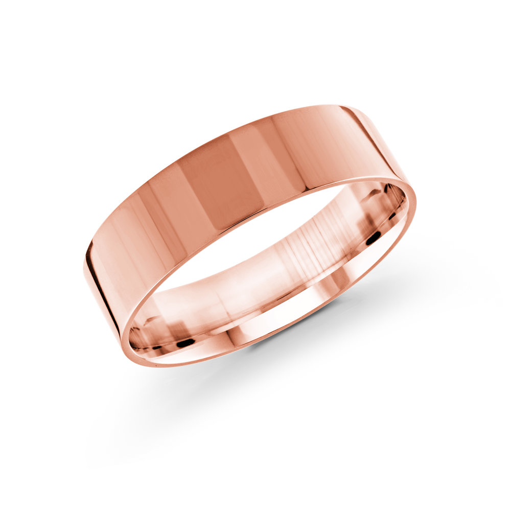 Pink Gold Men's Ring Size 6mm (J-213-06PG)