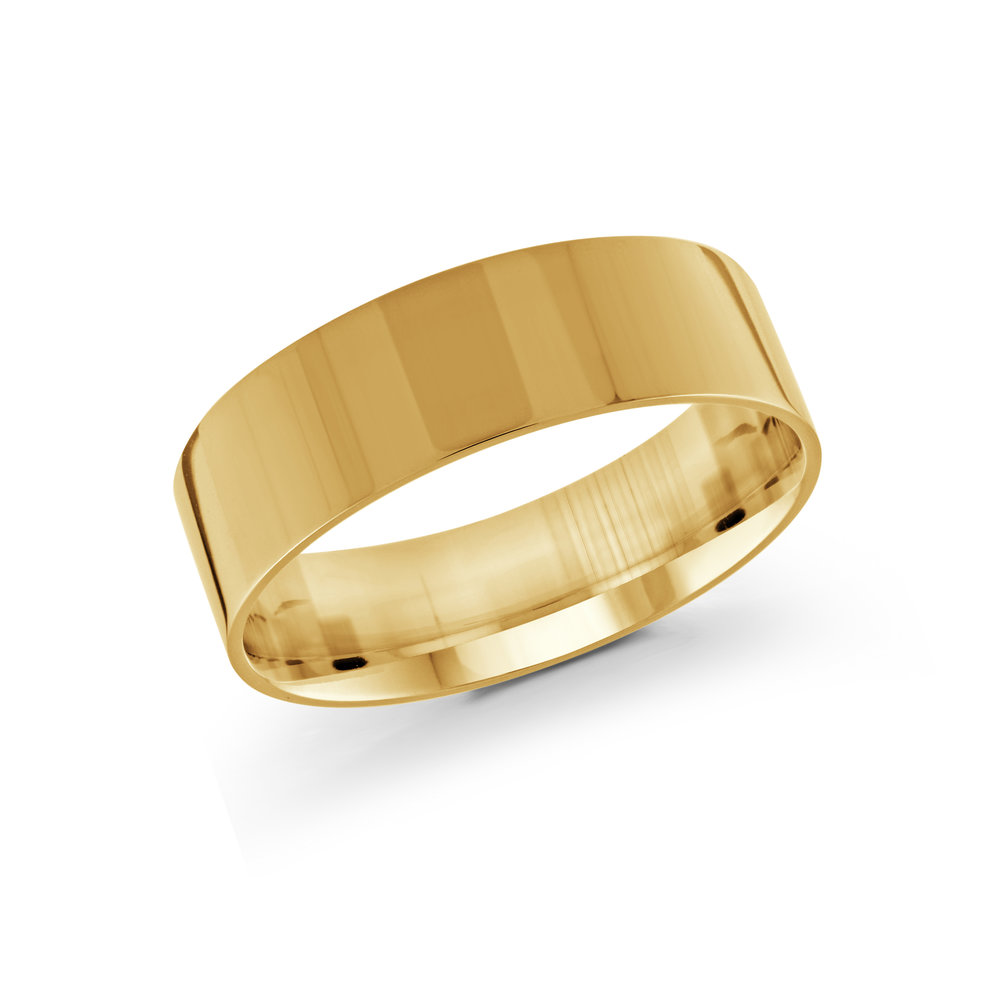 Yellow Gold Men's Ring Size 7mm (J-213-07YG)