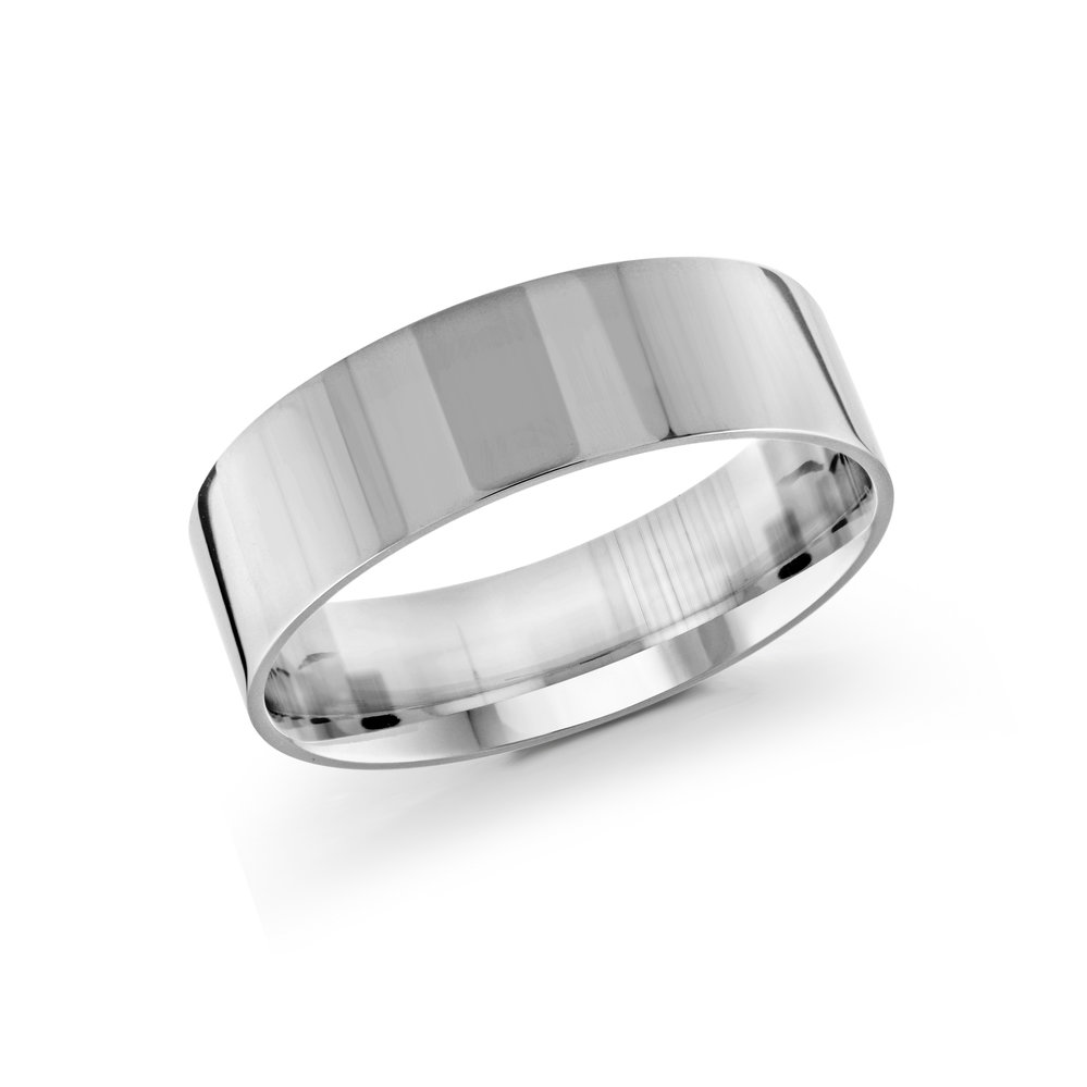 White Gold Men's Ring Size 7mm (J-213-07WG)