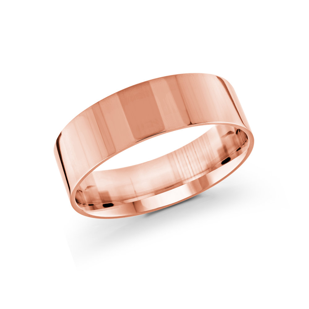 Pink Gold Men's Ring Size 7mm (J-213-07PG)
