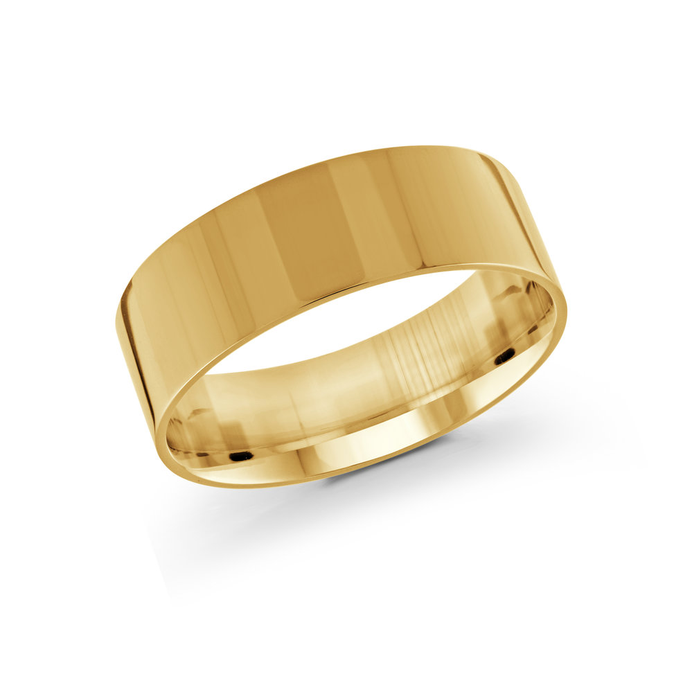 Yellow Gold Men's Ring Size 8mm (J-213-08YG)