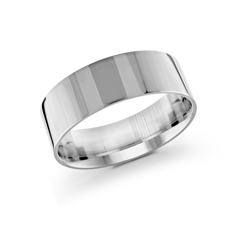 White Gold Men's Ring Size 8mm (J-213-08WG)
