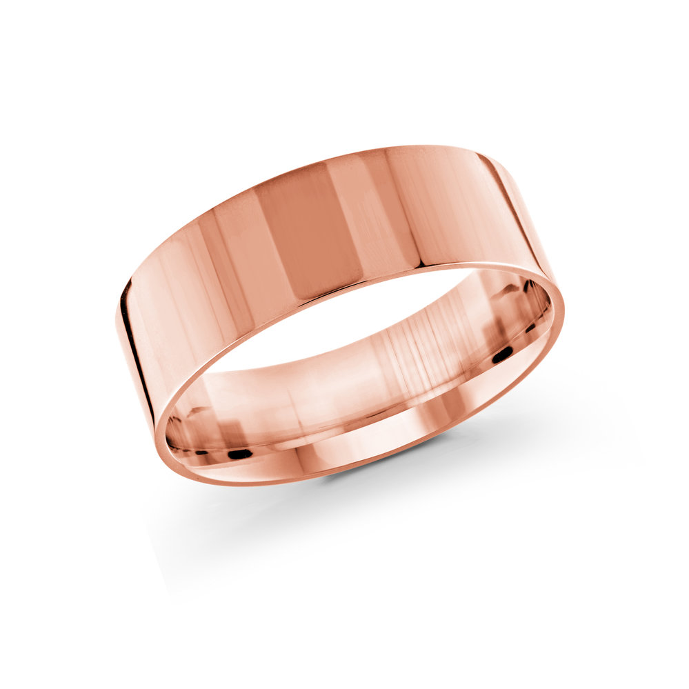 Pink Gold Men's Ring Size 8mm (J-213-08PG)