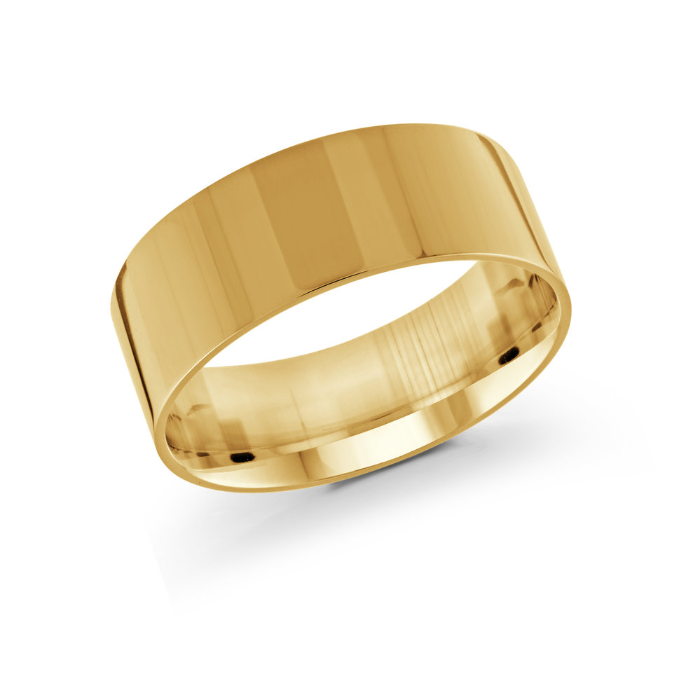 Yellow Gold Men's Ring Size 9mm (J-213-09YG)