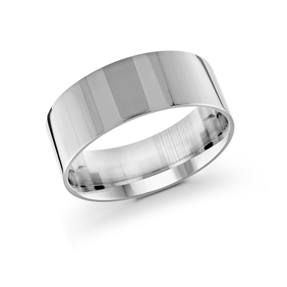 White Gold Men's Ring Size 9mm (J-213-09WG)