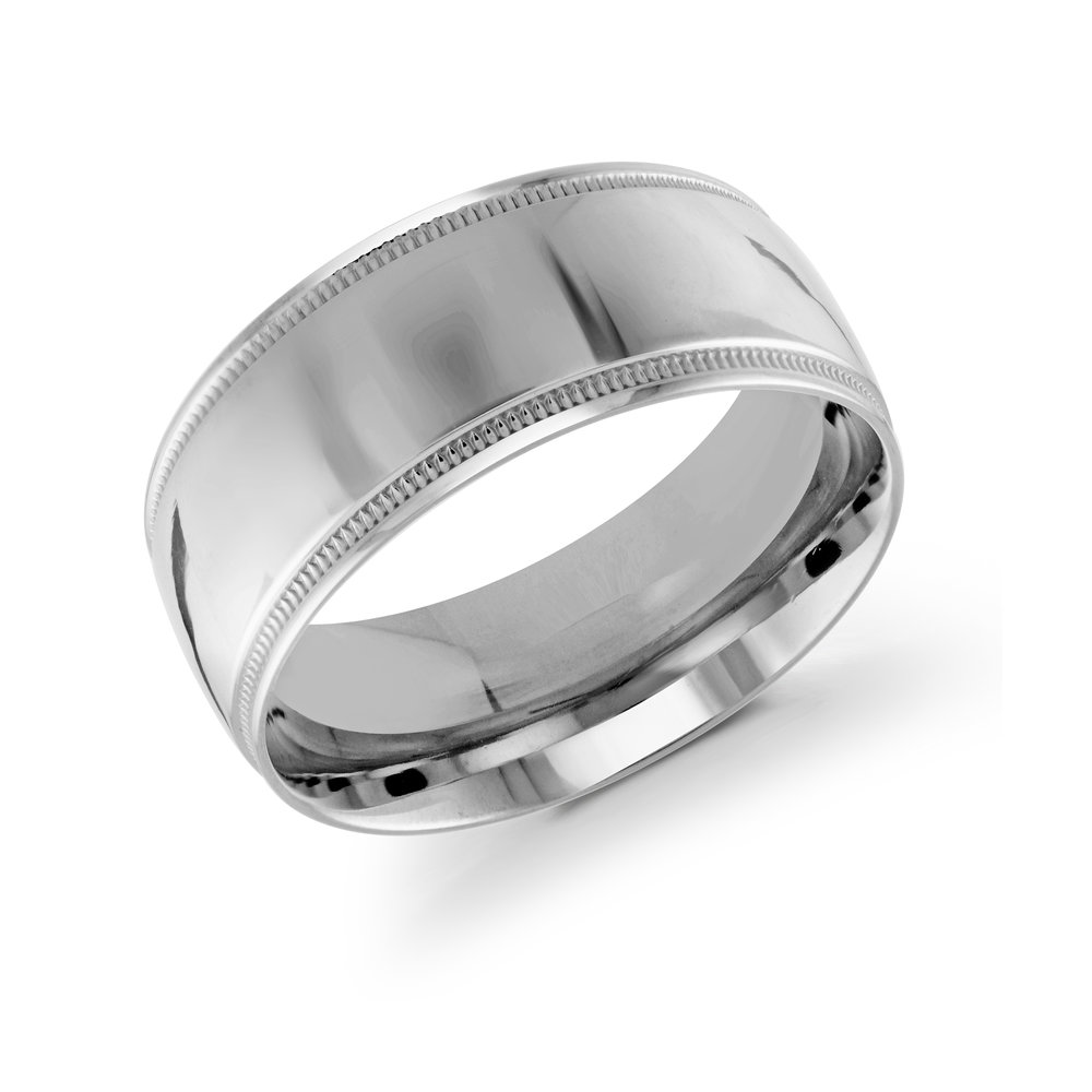 White Gold Men's Ring Size 10mm (J-209-10WG)